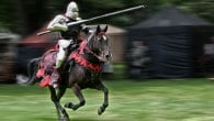 English Heritage's Grand Medieval Joust at Pendennis Castle in Cornwall