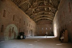 Great Barn interior, Basing House