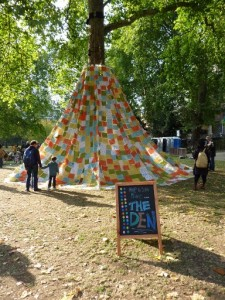 The Den in Russell Square at Bloomsbury Festival