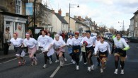 Olney Pancake Race, Shrove Tuesday, Olney Buckinghamshire