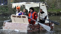The Boxing Day raft race is organised by the Derbyshire Association of Sub Aqua Clubs and 2012 is the fiftieth anniversary of the event...