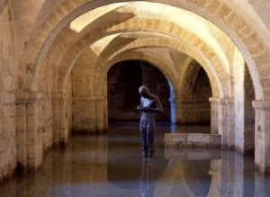 Winchester Cathedral crypt - Antony Gormley