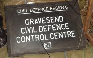 Civil Defence Sign - Gravesend - Cold War Bunker