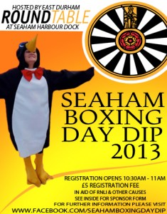 Seaham Boxing Day Dip 2013 - East Durham Round Table