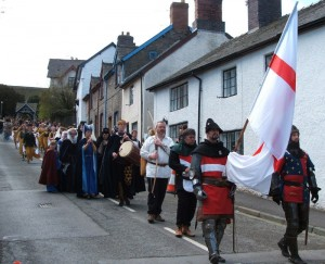 Clun Green Man Festival 2014 - Procession down Church Street
