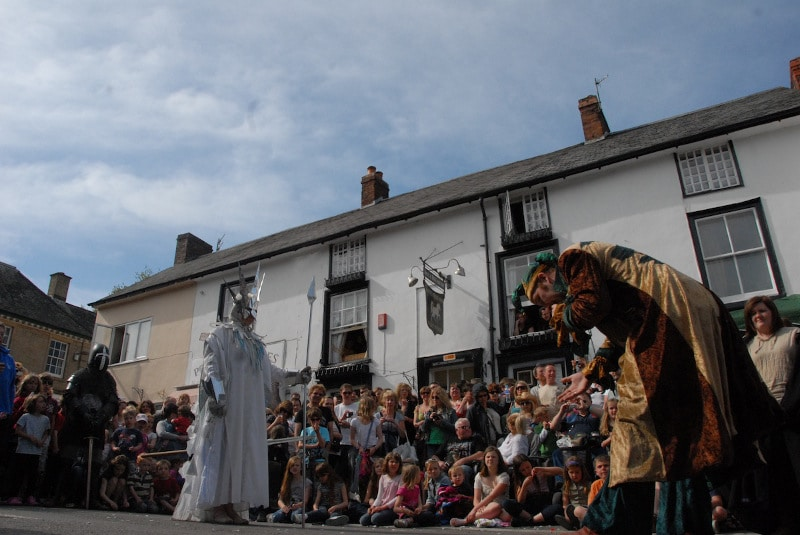 Clun Green Man Festival 2014 - the Jester and the Frost Queen