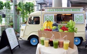 Love Food Hate Waste - 'Liquid Greens Machine' Breakfast Truck