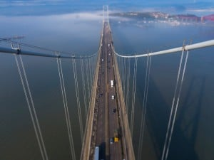 Forth Bridges Festival 2014 - view from Forth Road Bridge