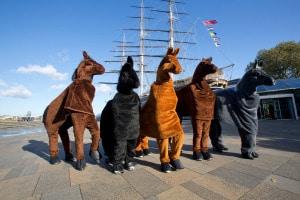 London Pantomime Horse Race 2014