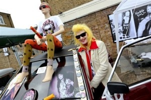Pam Hogg at the Vauxhall Art Car Boot Fair 2013 (17)