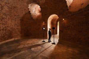 Sound artist Scanner in the Cliveden sounding chamber, credit National Trust Images-John Millar