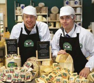 Wensleydale Creamery 2 men with cheese
