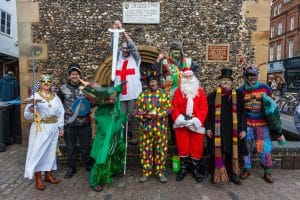St Albans Mummers Play - Boxing Day 2017 - Photo: Michael Maggs