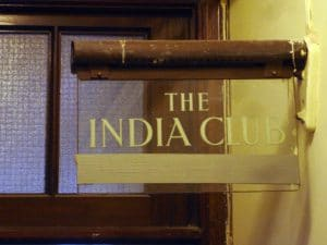 Photo of the India Club, Courtesy of Jake Tilson