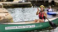 Desmond family canoe paddler