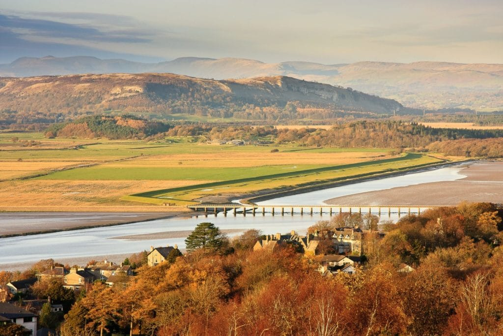 View from the top of Arnside Knott. Arnside + Silverdale AONB, photo Adam Donaldson