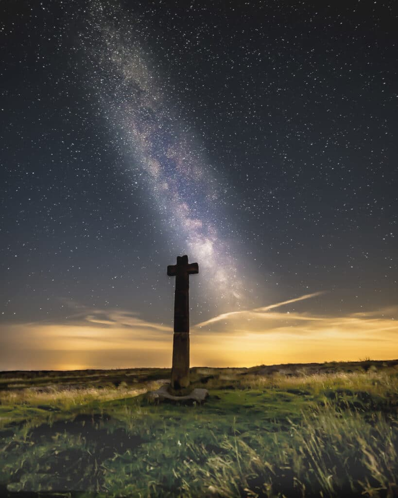 Milky Way above Young Ralph's Cross North York Moors cSteve Bell