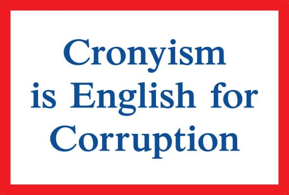 Jeremy Deller, Cronyism is English for Corruption