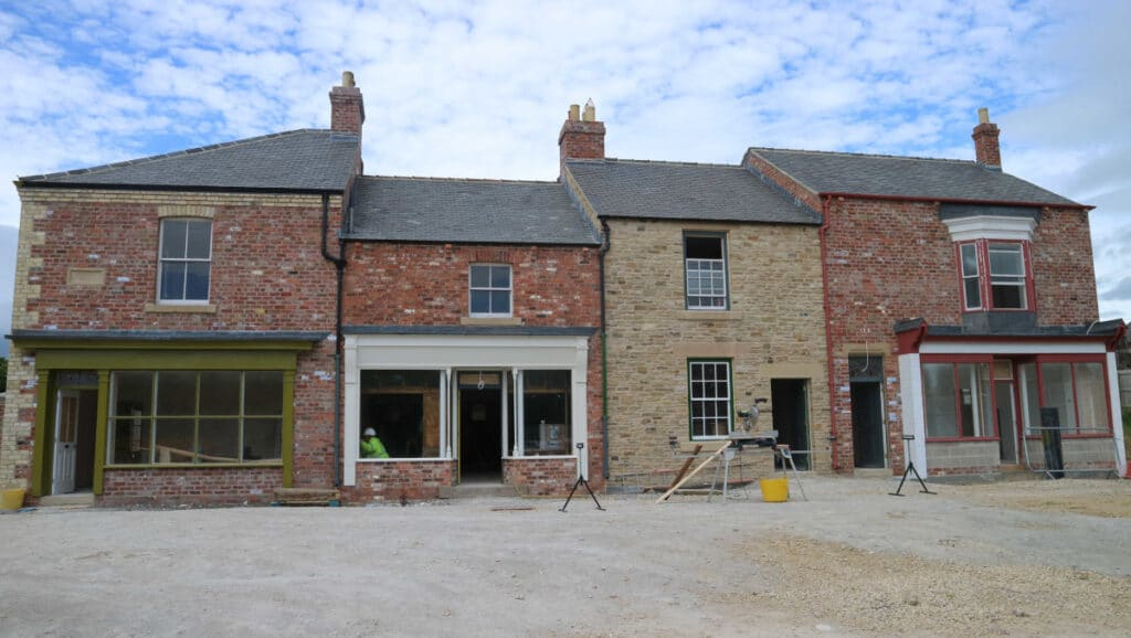 The 1950s terrace, which includes the exhibit inspired by Norman Cornish's home, is taking shape in Beamish Museum's 1950s Town.