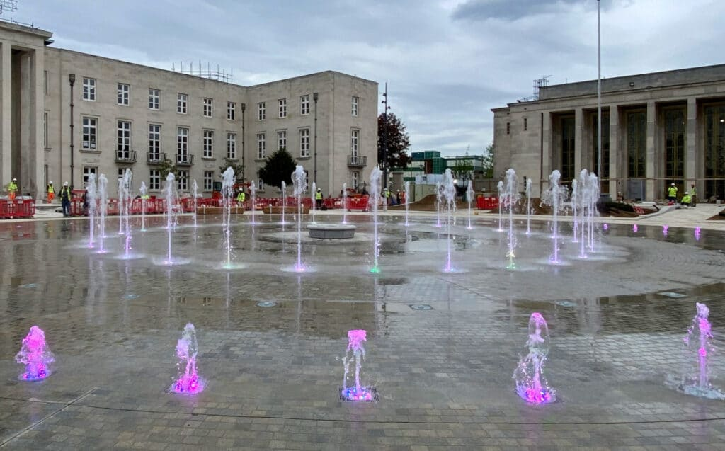 The Fellowship Square fountain (Image: London borough of Waltham Forest/Churchman Thornhill Finch)