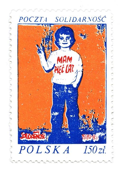 Orange Victory Kid Solidarity Stamp