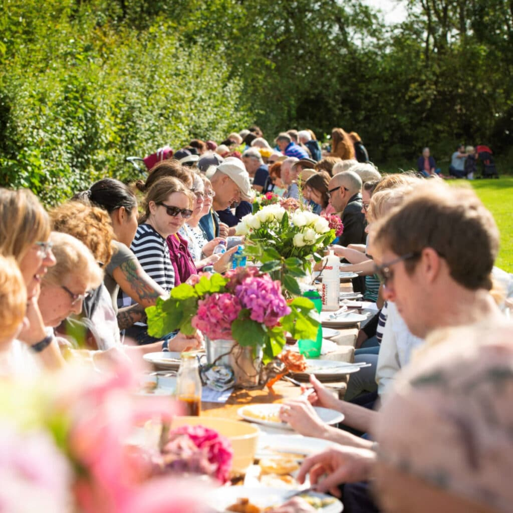 Festival of Thrift communal meal