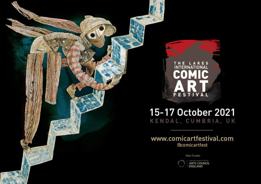Lakes International Comic Art Festival LICAF 2021 Poster Art by Dave McKean