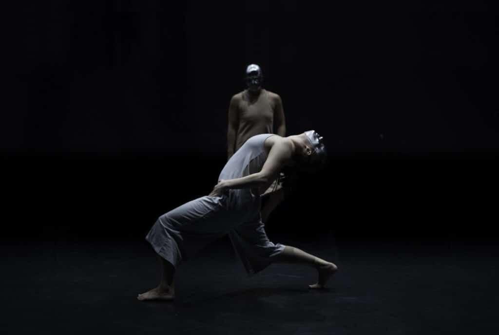 Dancers Ellie Marsh and Lila Naruse in Somnium (Photo: Filipe Alcada)