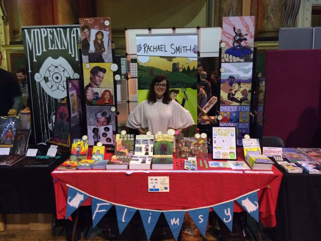 Thought Bubble's table in the Comics Clocktower